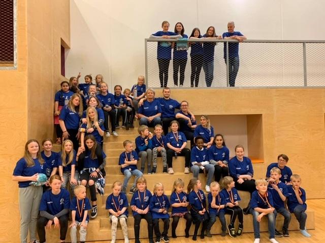 Håndbold for børn, vindere med medaljer