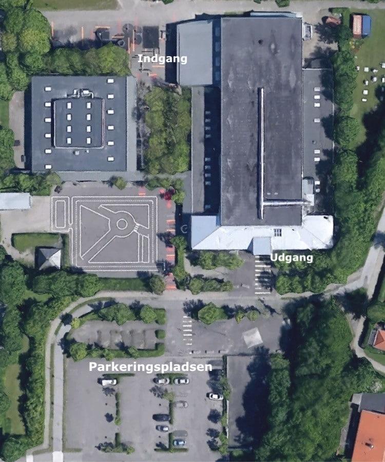 Vores håndboldklub / håndboldforening i Aalborg set fra luften